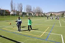Nové hřiště v areálu jirkovské 3. základní školy Nerudova