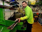 Mario Štefanik v půjčovně lyží