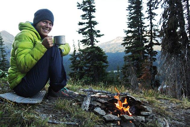 Mája Šnajdrová a její ranní čaj na Pacifické hřebenovce.