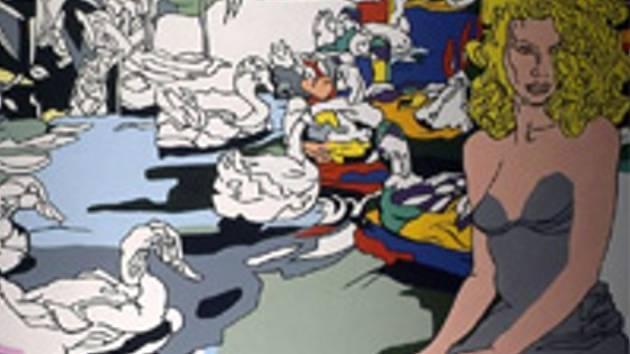 Jeden z Mzykových obrazů.