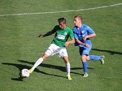 Z pohárového utkání FC Chomutov - TJ Štechovice.