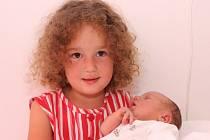 Marie Andělka Kučerová přišla na svět 27. 7. 2008 ve 22.20 hod. V Kadani ji porodila Vladimíra Sedláková z Libědic, holčička měla 49 cm a 3,1 kg. Na snímku se sestřičkou Alexandrou.