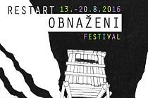 Nová grafika festivalu Obnaženi pro rok 2016 s podtitulem Restart.