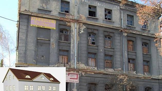 BÝVALÝ MLÝN. Ze současné ruiny vyroste bytový dům, secesní vzhled budovy zůstane zachován.