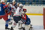 Chomutov (v bílém) hrála v domácí aréně proti Třebíči.