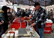 Zabijačkové trhy v Jirkově.