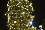Vánoční strom v Klášterci nad Ohří