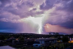 Bouřka v Chomutově