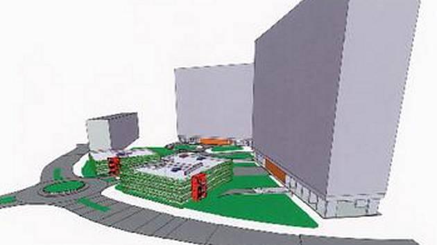 PŮVODNÍ PROJEKT. Takto by mohly vypadat nadzemní garáže u experimentů na Březenecké. Vešlo by se do nich přes dvě stě šedesát automobilů.