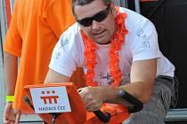 Oranžové kolo ČEZu na Vysmátém létě v Kadani.
