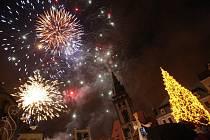 Rozsvícení vánočního stromu v Chomutově.