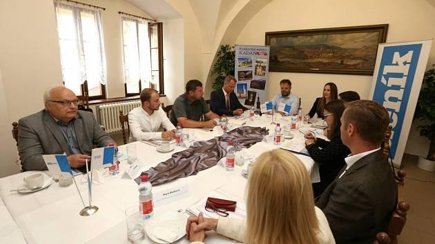 Setkání se starostou Kadaně a dalšími hosty