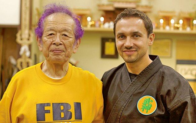 Milan Turek se svým japonským učitelem 85letým Soke Hatsumim