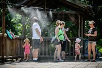 V zooparku ochladí návštěvníky mlžidlo.