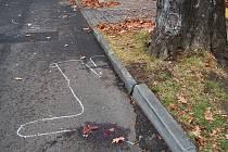Snímek z posladení nehody, při které zahynul cyklista.