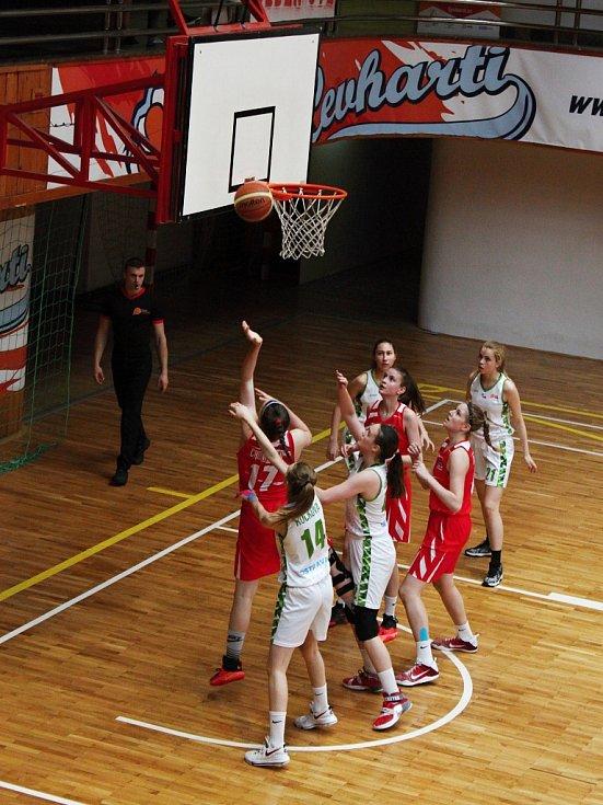 Utkání Levhartic Chomutov (v červeném) proti Ostravě