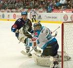 Semifinále play off hokejové extraligy - 3. zápas: Piráti Chomutov - Bílí Tygři Liberec, 4. dubna v Chomutově.