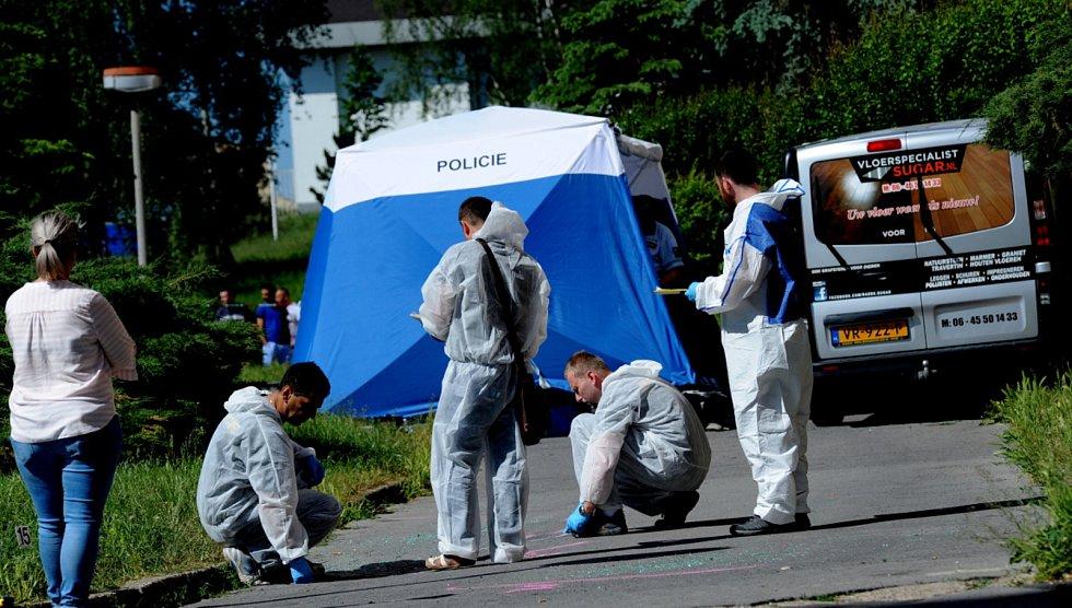 Po střelbě na chomutovském sídlišti zemřel člověk