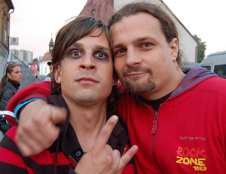 Bratři David a Jiří  Weingärtnerové uváděli na rockové stage.