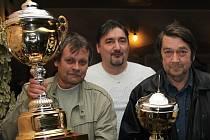Jiří Kupec (uprostřed) chce Chomutovskou ligu rozšířit do nevídaných rozměrů.