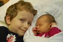 Michalka Čermáková se šestiletým bráškou Davídkem. Holčička se narodila Michaele Čermák Erhartové 6. 1. v 8:55 hodin v chomutovské porodnici. Měřila 49 cm a vážila 2,9 kg.