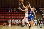 Zápas chomutovských basketbalistek.