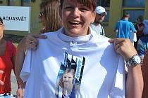 Každý člen výpravy měl triko s fotografií Simony Baumrtové.