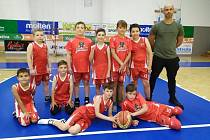 Mladí basketbalisté BK Levharti Chomutov.
