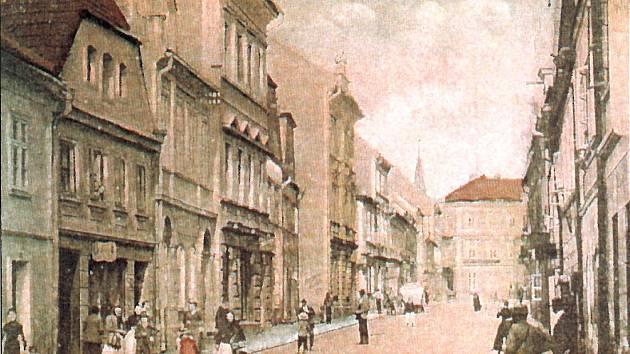 Revoluční ulice (tehdy ještě Panská) na začátku 20. století.