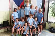 Jedenáctiletí plavci Slávie Chomutov byli úspěšní na Poháru ČR v Domažlicích.