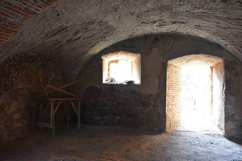 Nejcennější gotická část zámku.