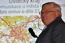 Radní Ústeckého kraje pro majetek a investice Ladislav Drlý při prezentaci