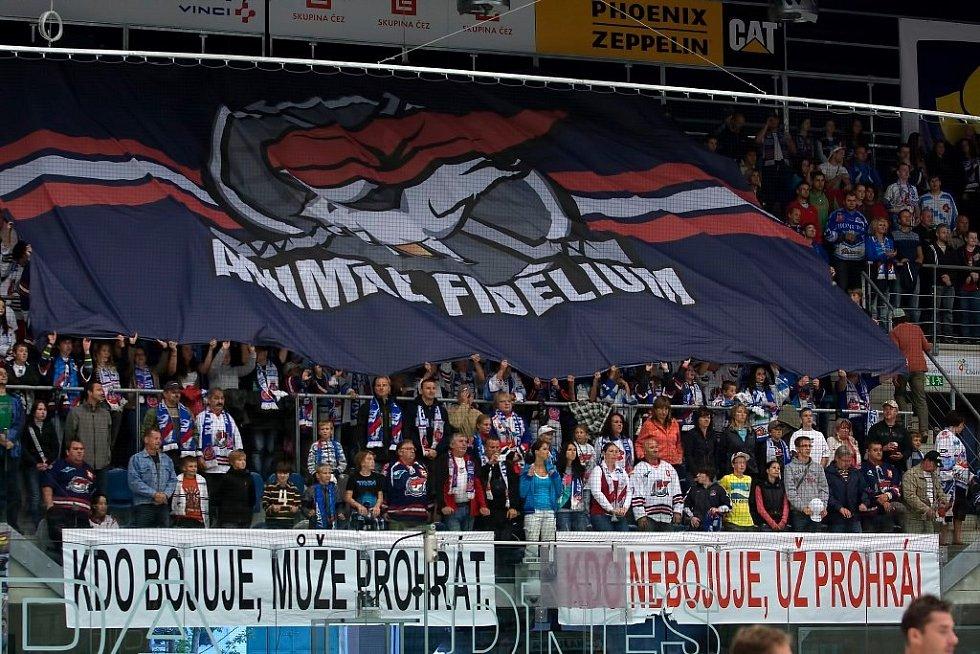 Transparent fanoušků Chomutova.