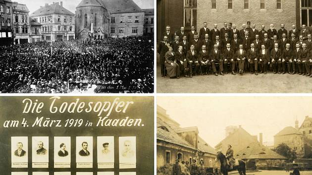 První dochované snímky ve sbírkách Oblastního muzea Chomutov pocházejí z roku 1919.