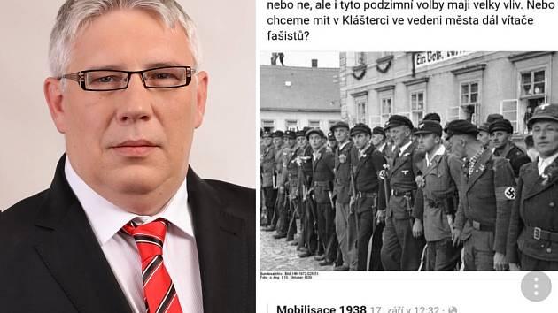 Jaroslav Kohout (KSČM) a jeho příspěvek na sociální síti