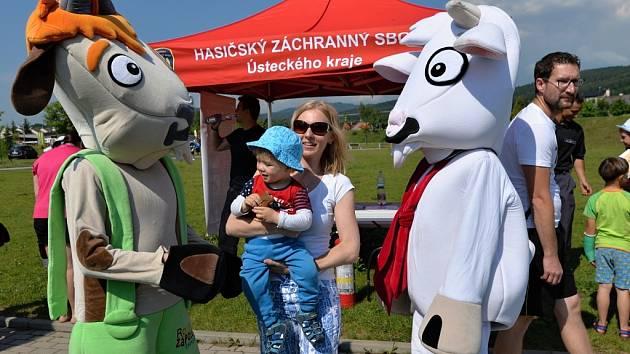 Rodinné zápolení s kozou Rózou a kozlíkem Rozmarýnkem. Ilustrační foto