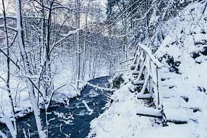 Bezručovo údolí u Chomutova, leden 2019