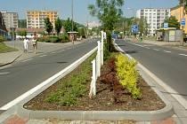 Nově zrekonstruované silnice v Kadani.