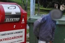 Zloděj se zasekl v kontejneru, vyprostit ho musela policie