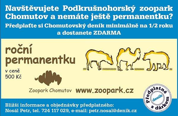 Promo kupon - za předplatné permanentku do zooparku.