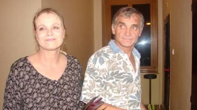 Chantal Poullain a Oldřich Kaiser.