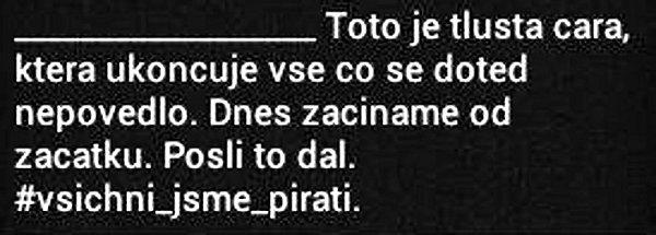 SMSka zkampaně na podporu Pirátů.
