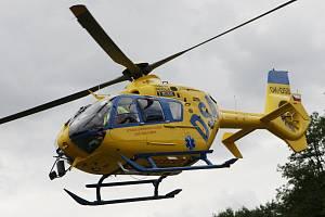Záchranářský vrtulník. Ilustrační foto.