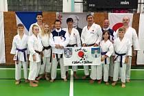 Zástupci Karate klubu Kadaň a Klášterec na mezinárodním semináři.