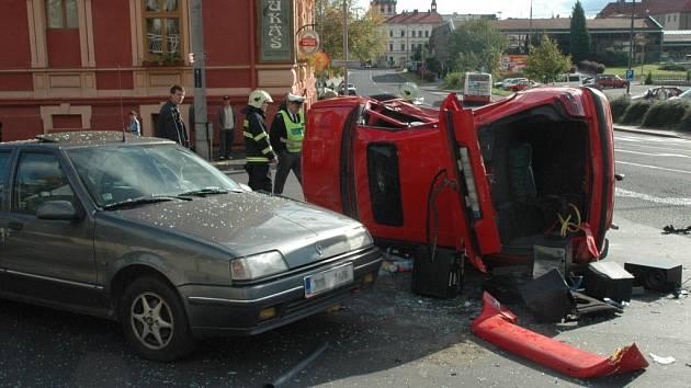 Snímky z nehody.