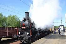 Parní lokomotiva 423.009 z roku 1922 .