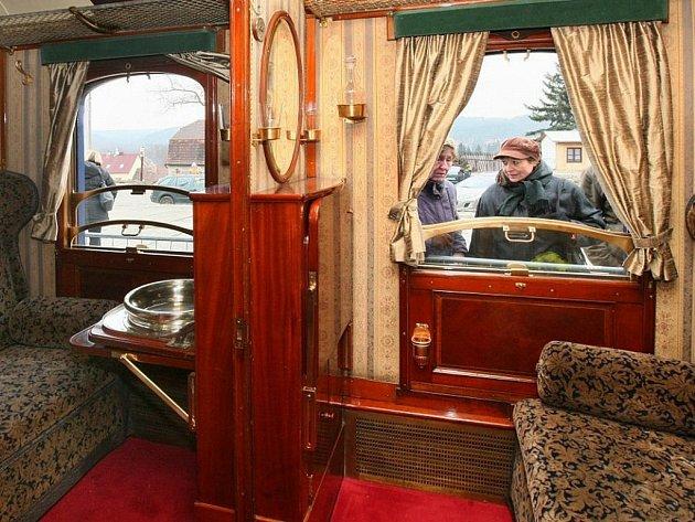 Vůz Ferdinand v Prezidentském vlaku