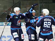 S výškou 192 cm a váhou 89 kg budí Stanislav Dietz (vlevo) na ledě respekt. U Pirátů je na hostování z Litvínova do konce sezony.