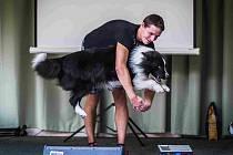 Divákům předvedl své umění i pes tanečník, Border Kolie jménem Iggy z Bengasu (na snímku se svým majitelem Petrem Müllerem z Chomutova). Kromě tance pes zvládá i jízdu na skateboardu.
