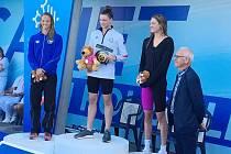 Simona Kubová (zcela vlevo) na druhém místě v povedeném závodě.